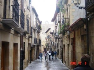 Narrow road in Catalonian town