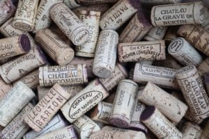 Pile of wine corks