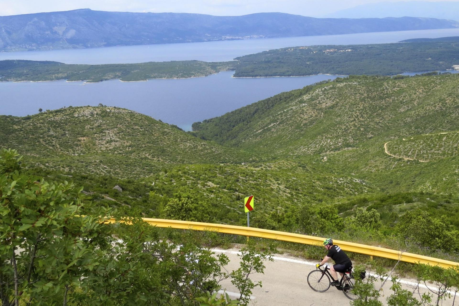 Self guided cycling tour of Croatia's coast and islands