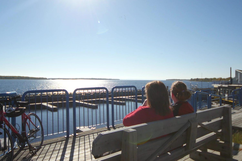 Stop and enjoy the lake views in Saguenay