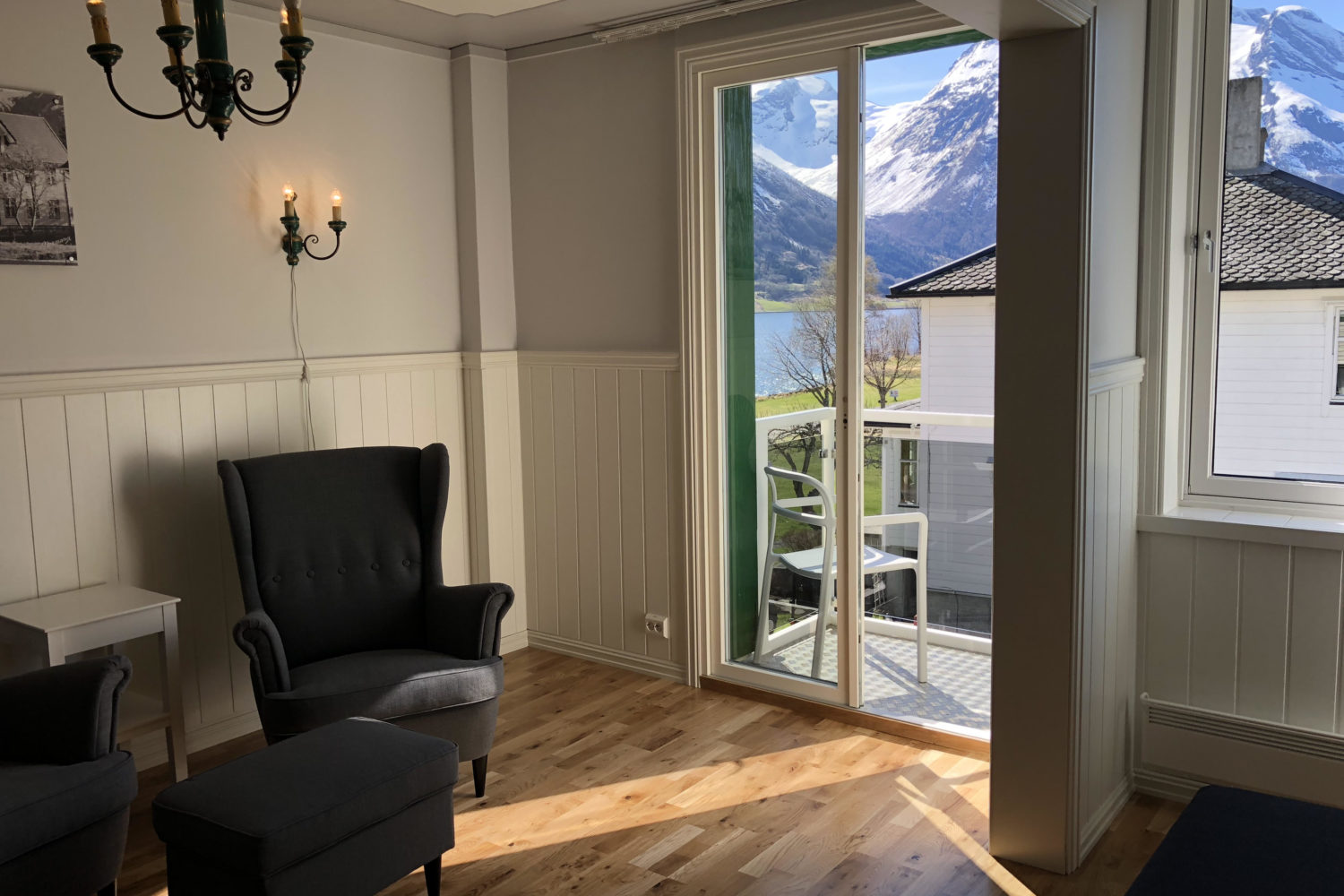 Hjelle Hotel room view in Stryn is gorgeous!