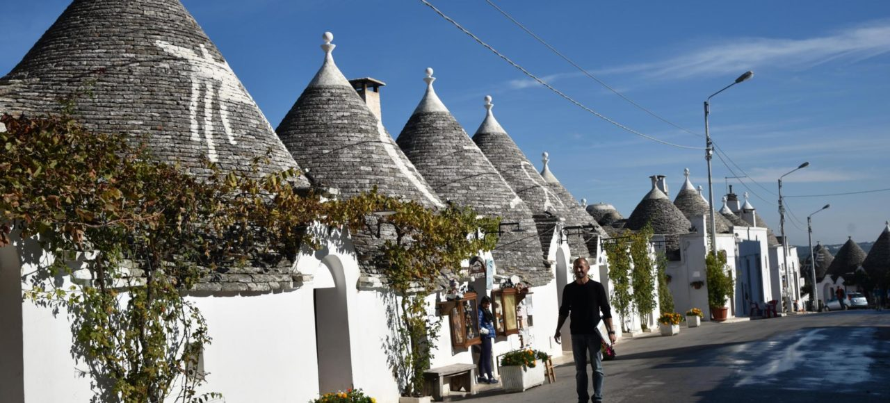 Self guided cycling tour through Alberobello with Pure Adventures.