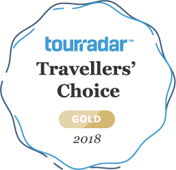 TourRadar Travellers' Choice Gold 2018 award