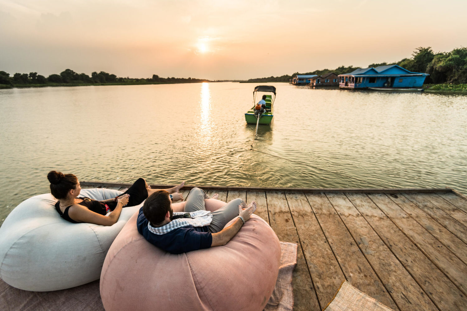 Escape from it all with this experience - Tonle Sap floating water houses stay!