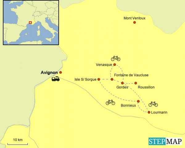 Provence Short Bike Tour