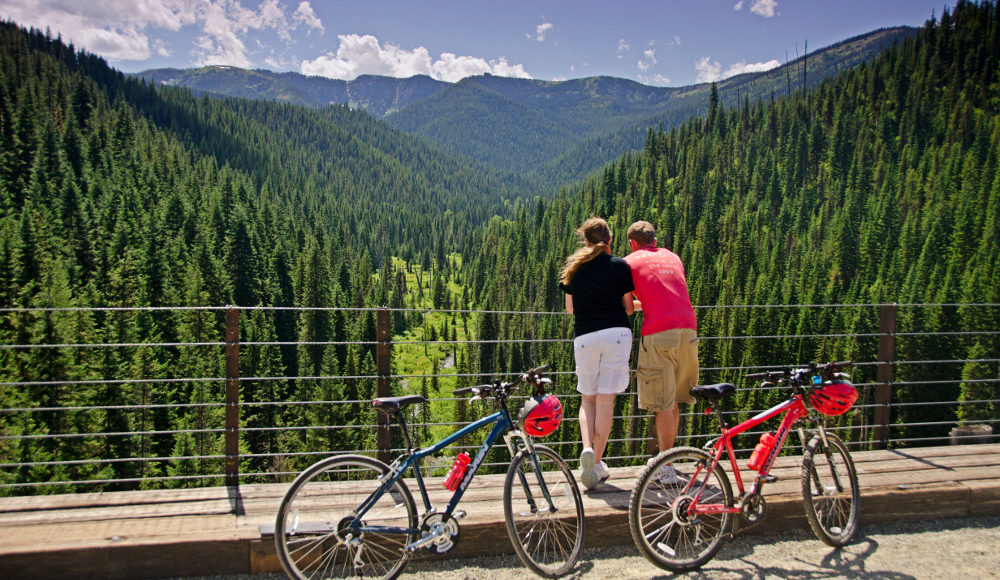 Bike along the gorgeous Hiawatha Trail into eastern Montana