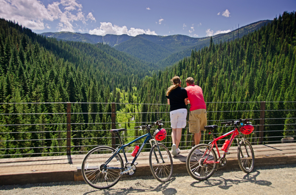 Bike along the gorgeous Hiawatha Trail into eastern Montana