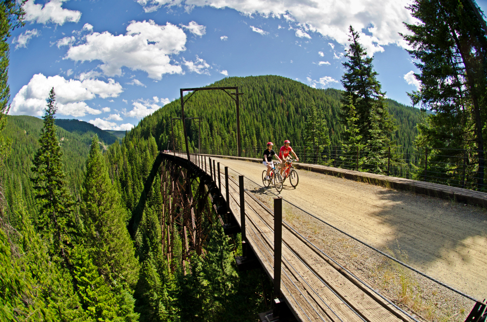 The Hiawatha Trail offers an incredible landscape