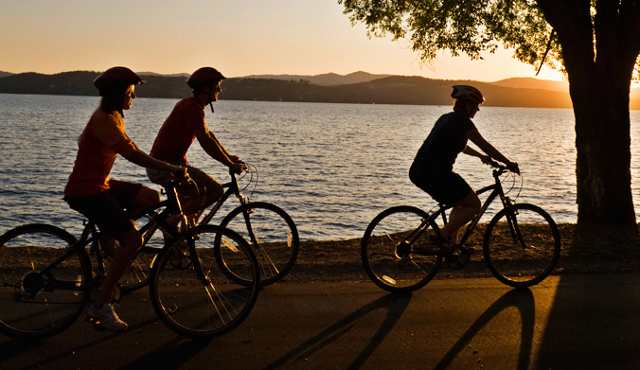 Cycling along North Idaho's scenic Centennial Trail