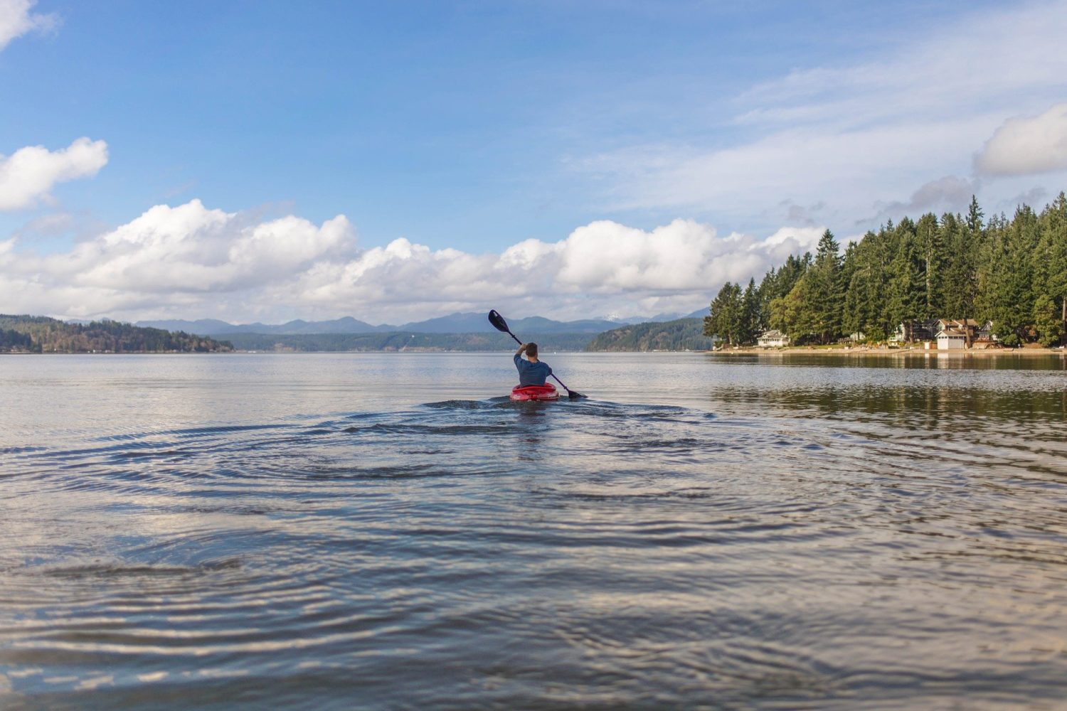 Take some time to explore the beautiful Lake Coeur d'Alene by kayak - the best way!