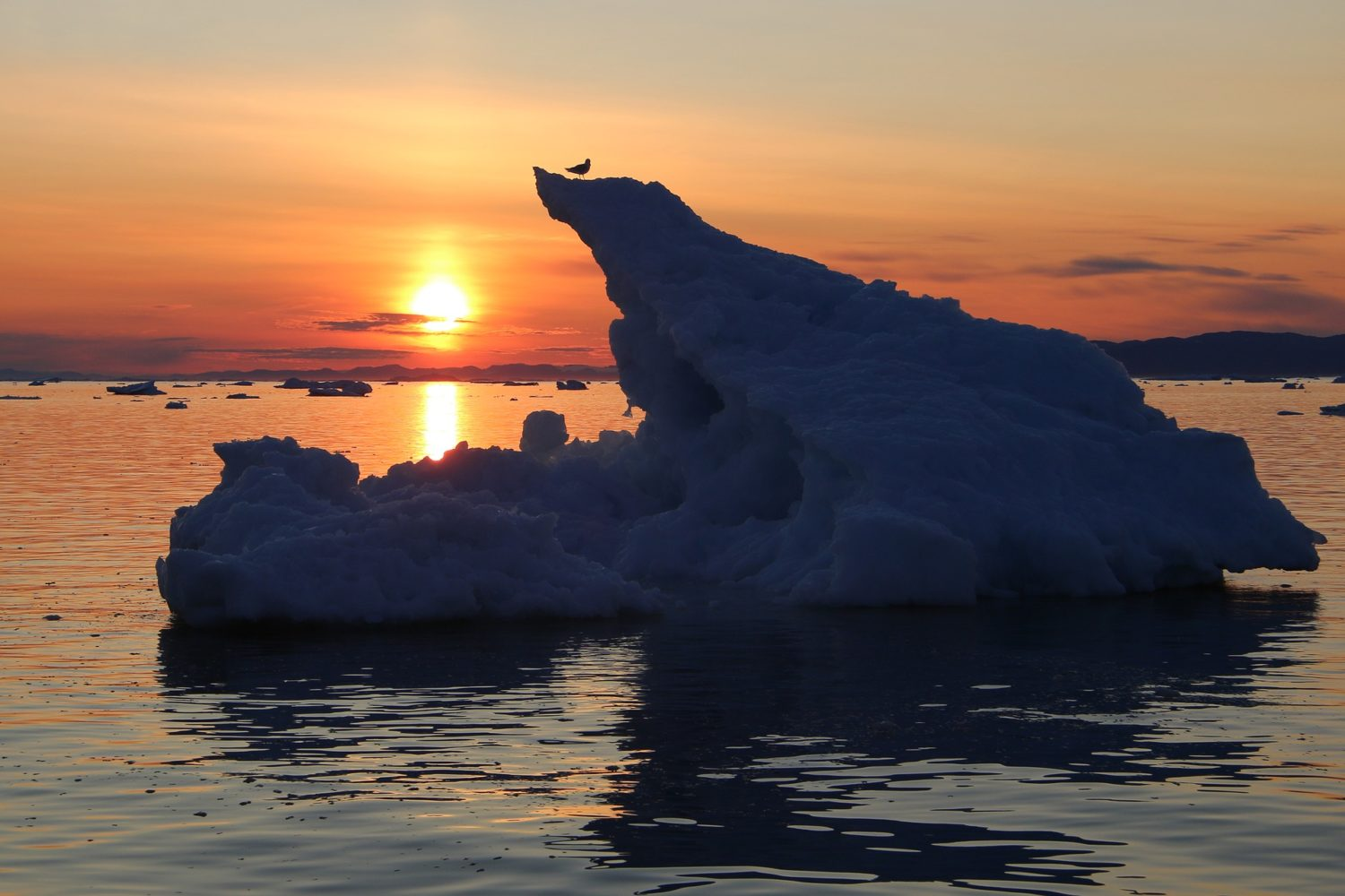 Sunset with glacier views