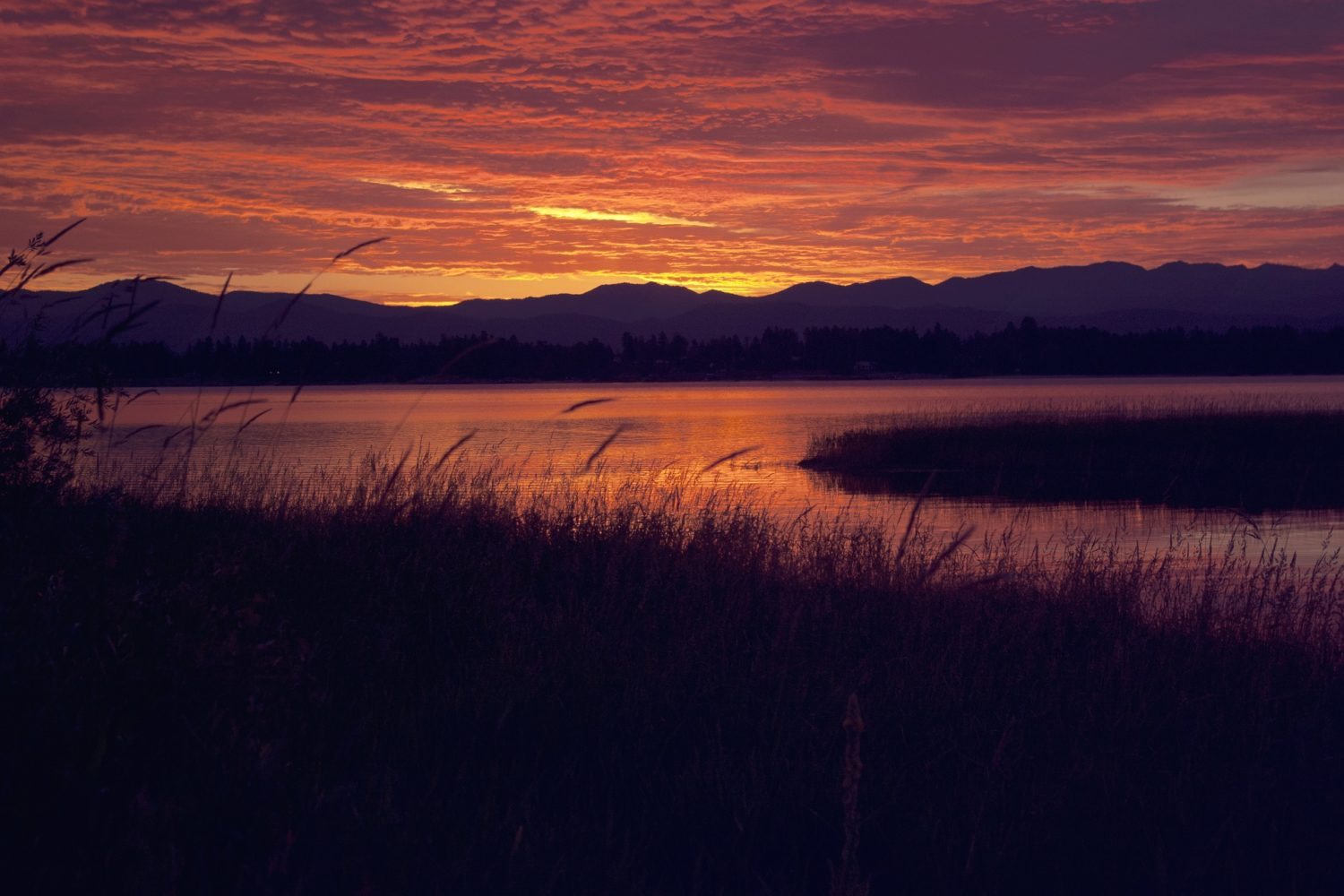 Sunset on the Lake Coeur d'Alene is truly spectacular - you won't want to leave!