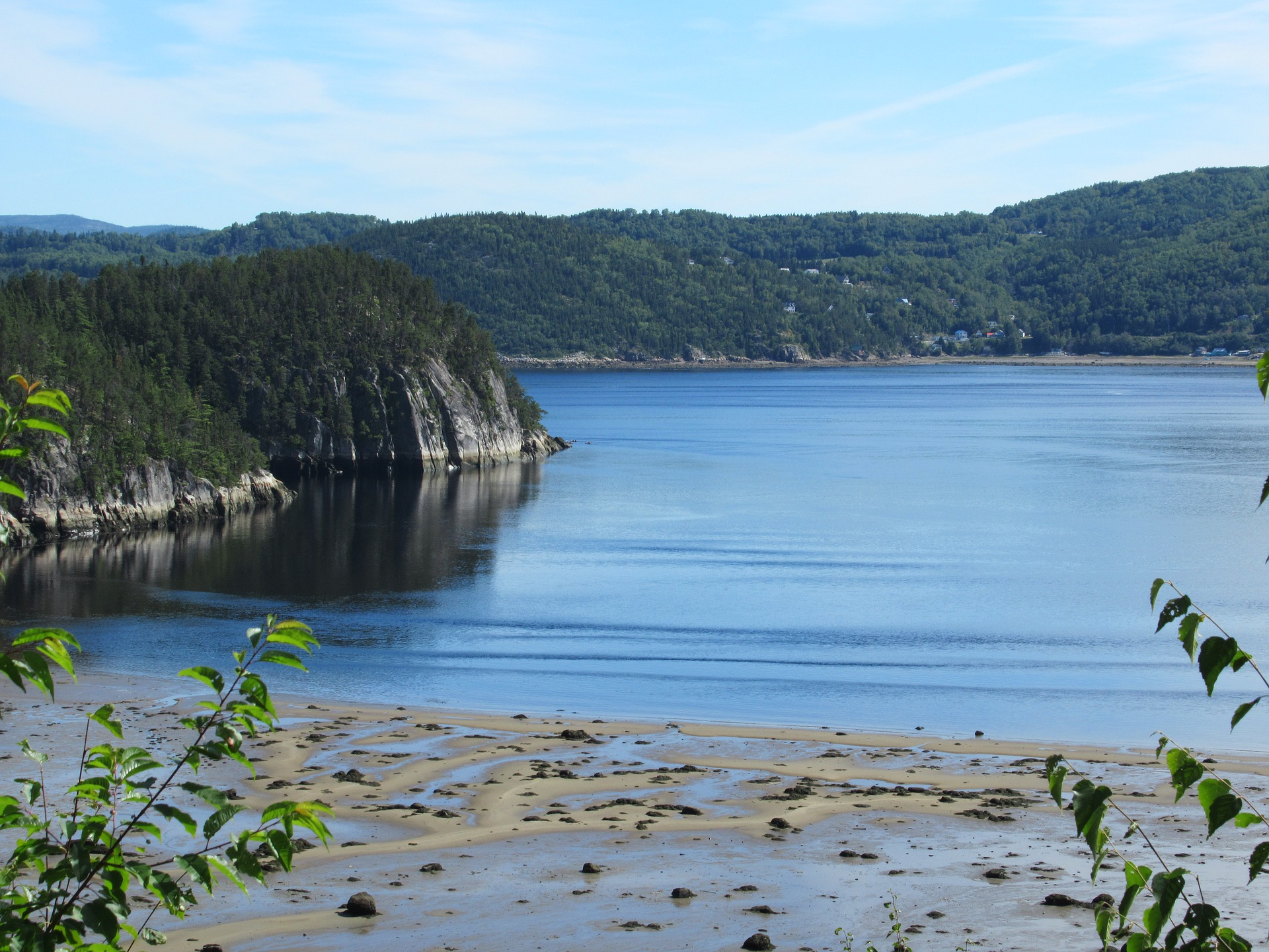 Beautiful views of the fjord while hiking in Quebec