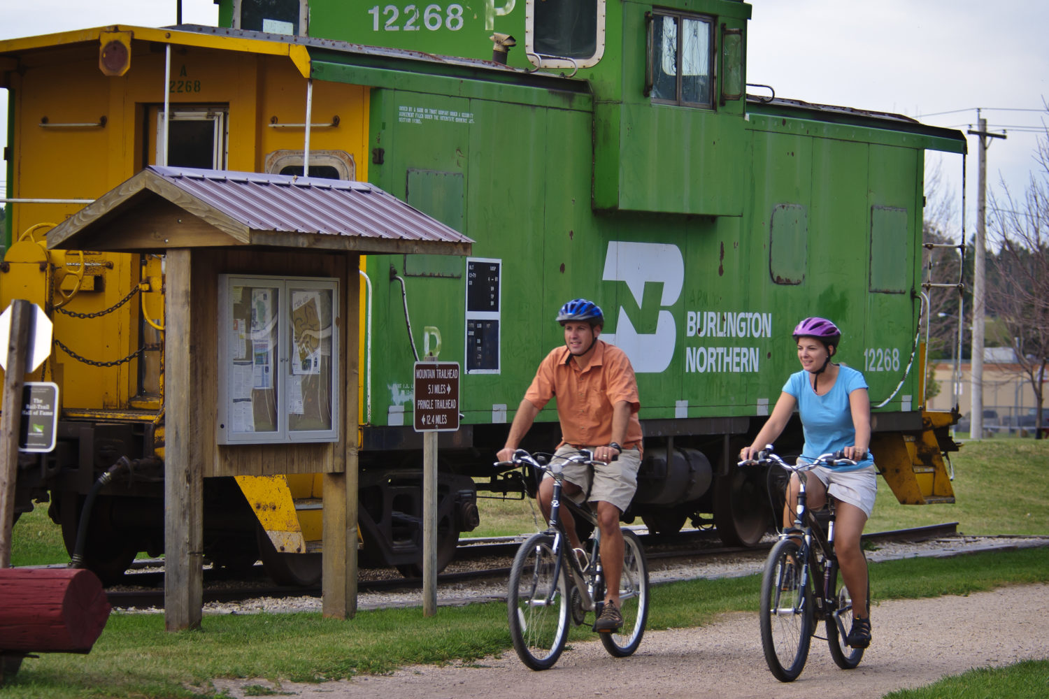 Rails to Trails cycling is our favorite!