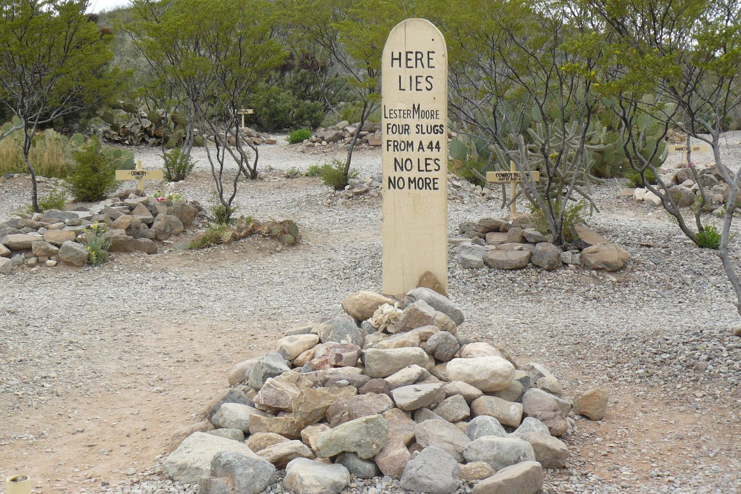 Be sure to check out famous Boot Hill in Tombstone