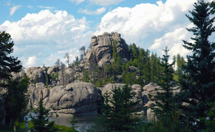 Beautiful lakes and pine forest make up the Black Hills of South Dakota