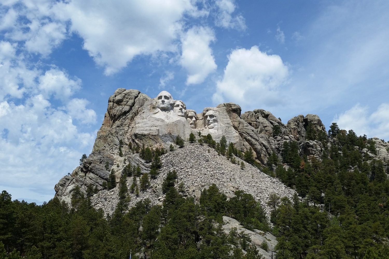 Iconic Mount Rushmore, a national landmark