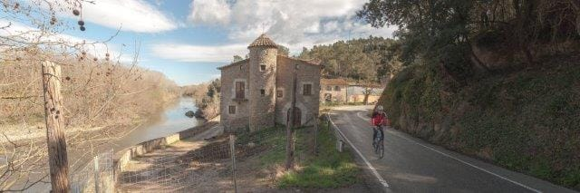 Medieval Spanish architecture found alongside a Catalonia bike route