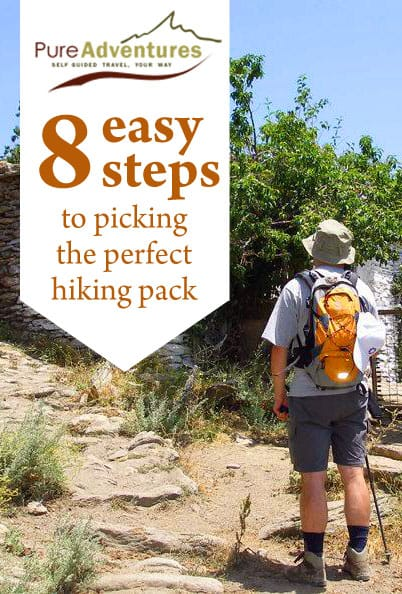 how to pick a hiking pack for a trip to Europe